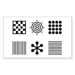 Baby Visual Stimulation  Sticker (Rectangle 50 pk)