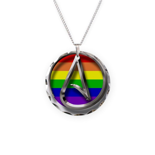 Lgbt Atheist Symbol Necklace By Atheistclothingcompany