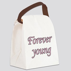 Forever Young Canvas Lunch Bag