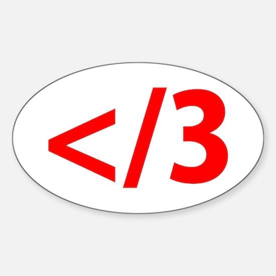 Heartbreak Emoticon Sticker (Oval)
