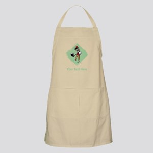 Golf Lady with Custom Text. Apron