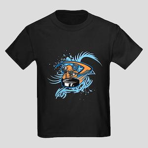 Ice Hockey. Kids Dark T-Shirt