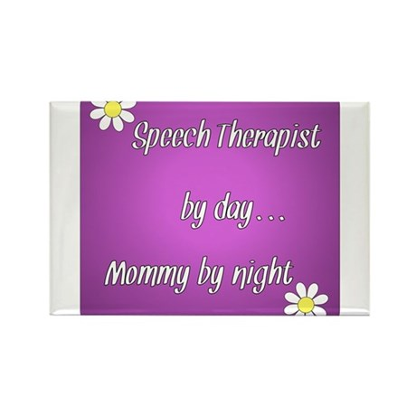 Speech Therapist by day Mommy by night Rectangle M