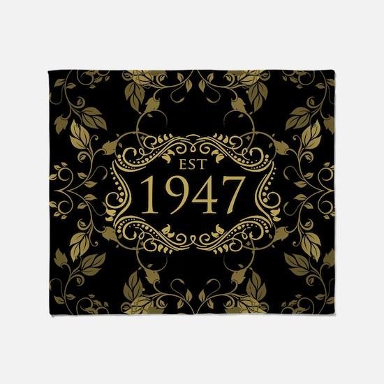 Established 1947 Throw Blanket