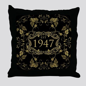 Established 1947 Throw Pillow