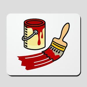 Paint Can & Brush Mousepad