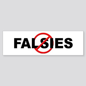 Anti / No Falsies Sticker (Bumper)