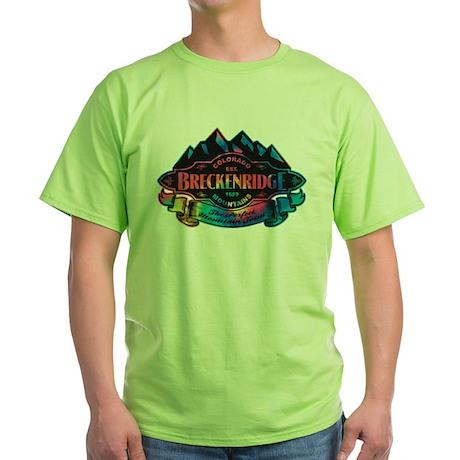 Breckenridge Mountain Emblem Green T-Shirt