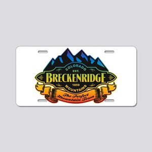 Breckenridge Mountain Emblem Aluminum License Plat