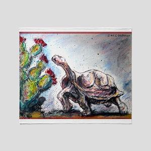Desert tortoise! Wildlife art! Throw Blanket