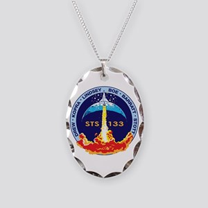 STS-133 Necklace Oval Charm