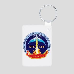 STS-133 Aluminum Photo Keychain