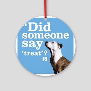 Treat Dog Ornament (Round)