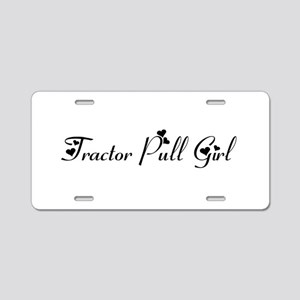 Tractor Pull Girl Aluminum License Plate