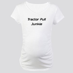 Tractor Pull Junkie Maternity T-Shirt