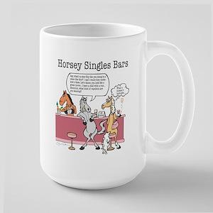 Horsey Singles Bars Large Mug