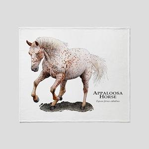 Appaloosa Horse Throw Blanket
