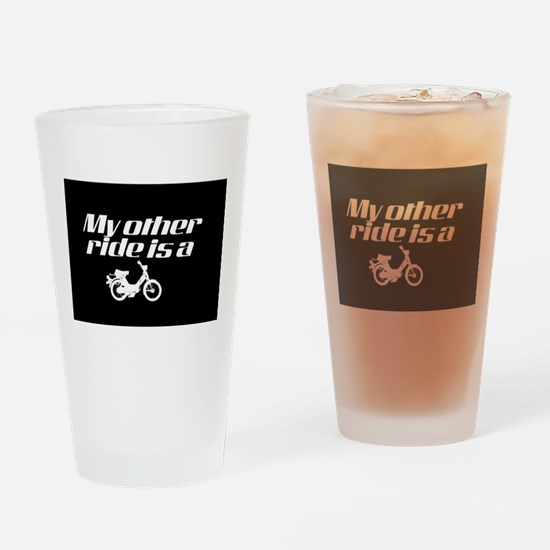 My Other Ride is a Moped (Dark) Drinking Glass