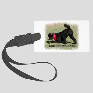 I am the Boss Poodle Large Luggage Tag