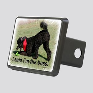 I am the Boss Poodle Rectangular Hitch Cover