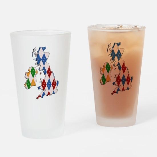 British Isles Drinking Glass