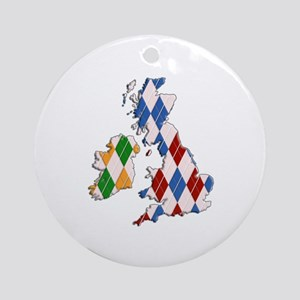 British Isles Ornament (Round)