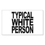 typicalwhitepersonblk Sticker (Rectangle 50 pk)