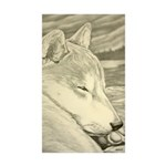 Shiba Inu Dog Art Sticke Sticker (Rectangle 50 pk)