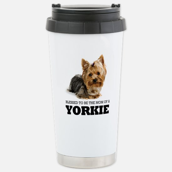 Blessed Yorkie Mom Stainless Steel Travel Mug