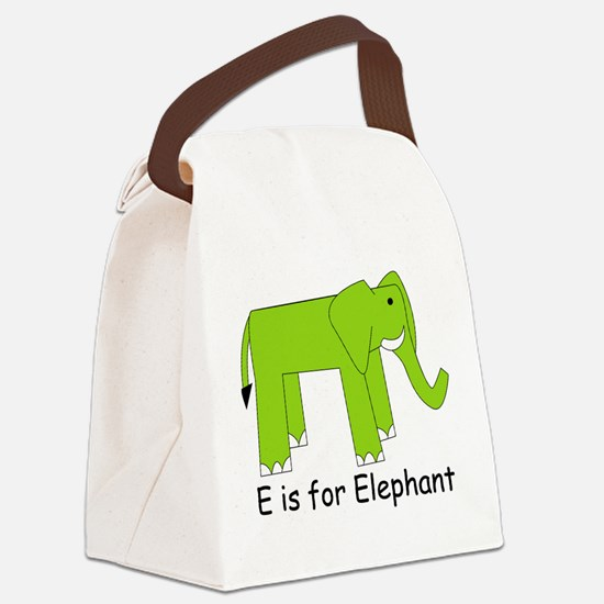 Elephant10.png Canvas Lunch Bag