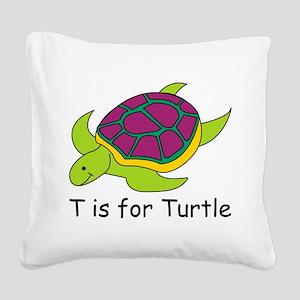 Turtle10 Square Canvas Pillow