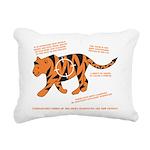 Tiger Facts Rectangular Canvas Pillow