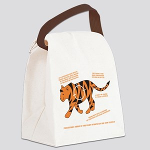 Tiger Facts Canvas Lunch Bag