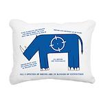 Rhino Facts Rectangular Canvas Pillow