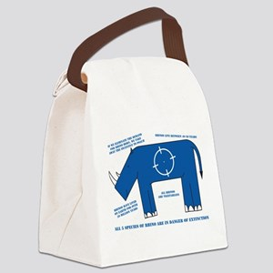 Rhino Facts Canvas Lunch Bag