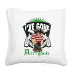 Organic Pirate Square Canvas Pillow