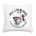 volleydawg 10 Square Canvas Pillow