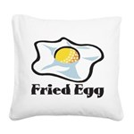 Fried Egg Square Canvas Pillow