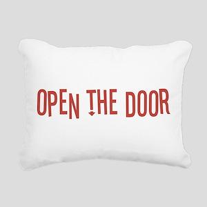 Open the Door Rectangular Canvas Pillow