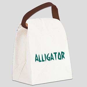 Alligator10x8 Canvas Lunch Bag