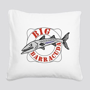 Big Barracuda Square Canvas Pillow