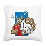 Bucks County Volleyball Square Canvas Pillow