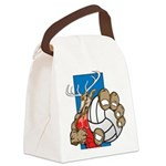 Bucks County Volleyball Canvas Lunch Bag