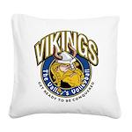 Vikings Logo Square Canvas Pillow