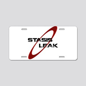 Stasis Leak Aluminum License Plate