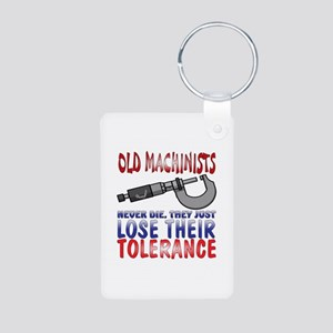 Machinist Aluminum Photo Keychain