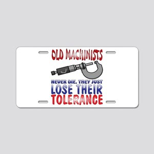 Machinist Aluminum License Plate