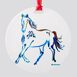Horse of Many Colors Round Ornament
