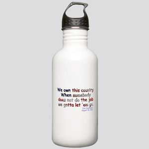 We Own This Country - Stainless Water Bottle 1.0L