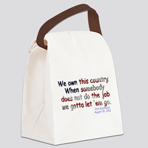 We Own This Country - Canvas Lunch Bag